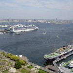 Port of Yokohama viewed from Marine Tower