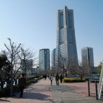 Landmark tower viewed from Kishamichi